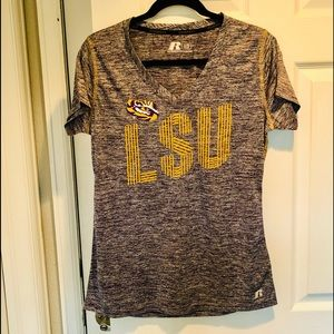 LSU Top V-Neck Tee by Russell Large